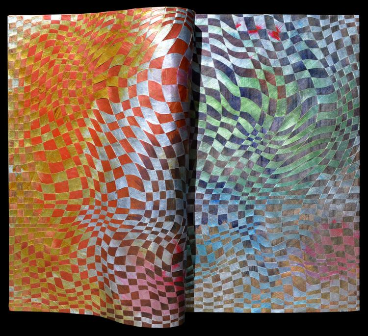 Woven copper paintings